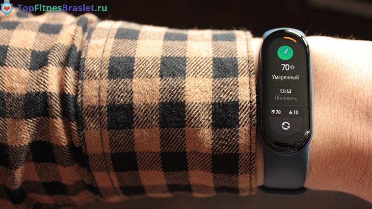 Измерение стресса на Xiaomi Mi Band 6