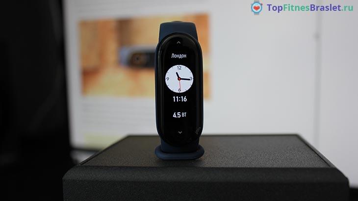 Виджет часовые пояса в Xiaomi Mi Band 6